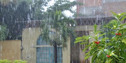 frente a la lluvia