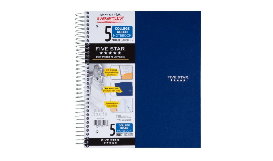 Five Subject Notebook1 Credit ACCO Brands