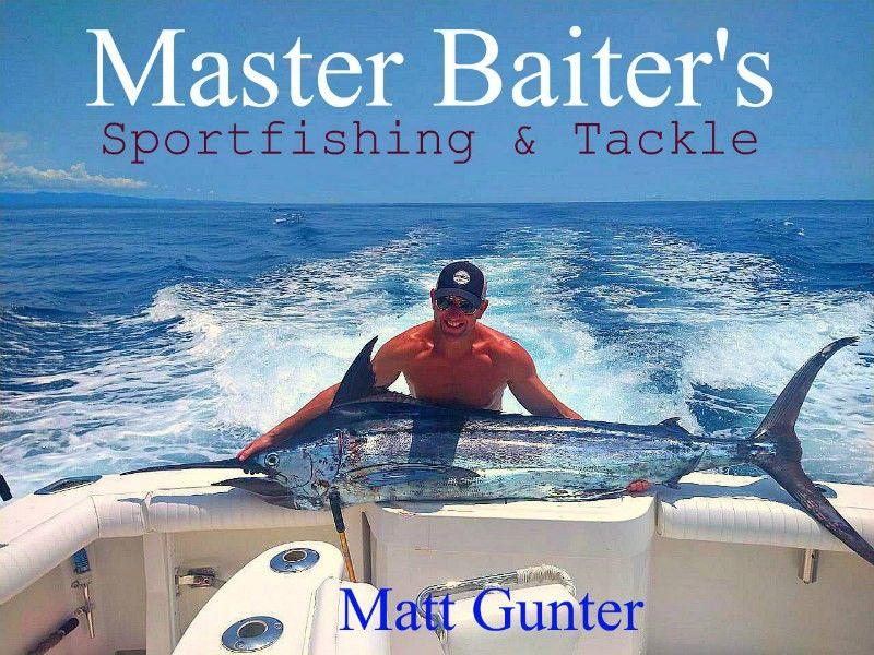 Matt Gunter and his Blue Marlin off Corbetena... Fishing on Sophia Matt had a great day!